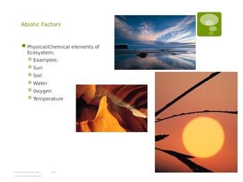 Abiotic and Biotic Factors plus Populations and Communities Power Point