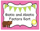 Abiotic and Biotic Sort