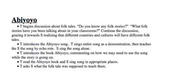 Abiyoyo Lesson Plan