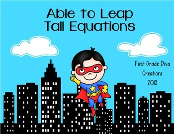 Superhero Themed Printable Math Problem for Combinations of Ten