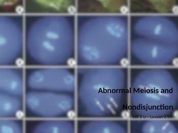 Abnormal Meiosis and Nondisjunction Disorders