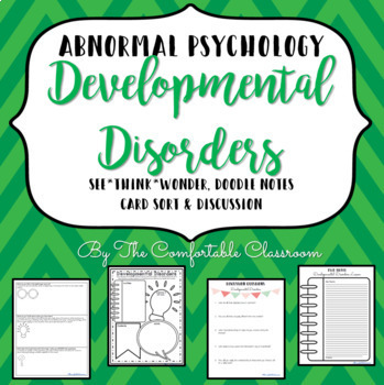 Abnormal Psychology Developmental Disorders Card Sort and more