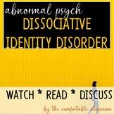 Abnormal Psychology: Dissociative Identity Disorder (MPD)