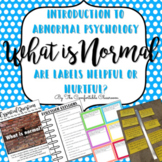 Abnormal Psychology Introduction Card Sort and Article Discussion
