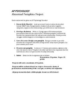 Abnormal Pumpkins Psychology Project