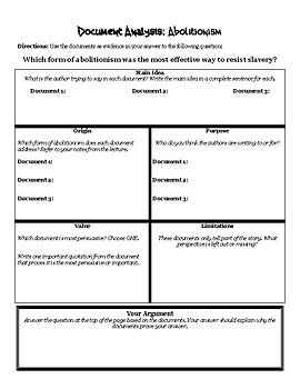Abolition: Document Analysis