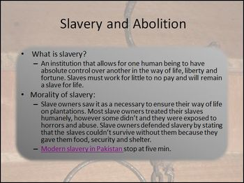 Abolition Movement Differentiated Instruction PowerPoint