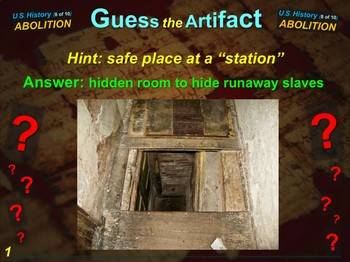 """Abolition Movement """"Guess the Artifact"""" game with pictures & clues (8 of 10)"""