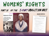 Abolition & Other Pre-Civil War Movements - PART 4: WOMEN'S RIGHTS MOVEMENT