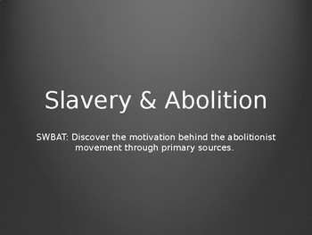 Abolition PowerPoint