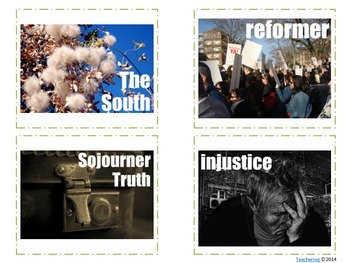 Abolition & Suffrage Reform Movements Task Cards {with PHOTOS}