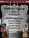 Underground Railroad, Abolitionist, and Suffrage Movement Fluency Passages