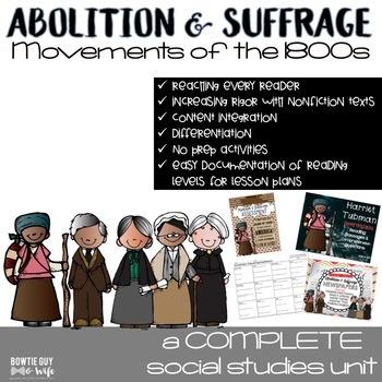 Underground Railroad, Abolitionist, and Suffrage Unit Bundle