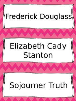 Abolition and Suffrage Vocabulary Cards - SS4H4