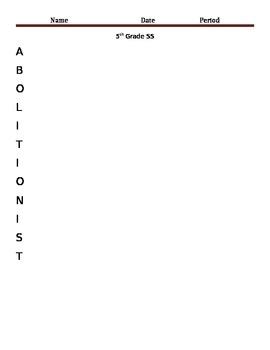 Abolitionist Acrostic