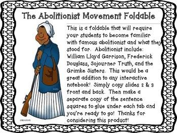 Abolitionist Foldable