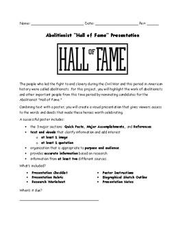 Abolitionist Hall of Fame Presentation