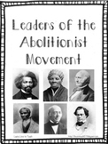 Abolitionist Movement Comprehension Packet