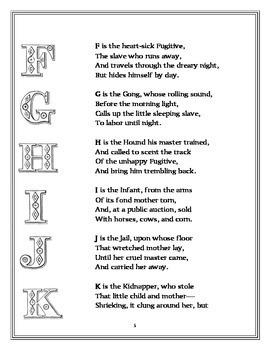 Abolitionists:  The Anti-Slavery Alphabet 1846
