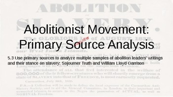 Abolitionist: Primary Sources