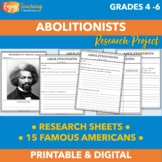 Abolitionist Research Project (Grades 4, 5, and 6)