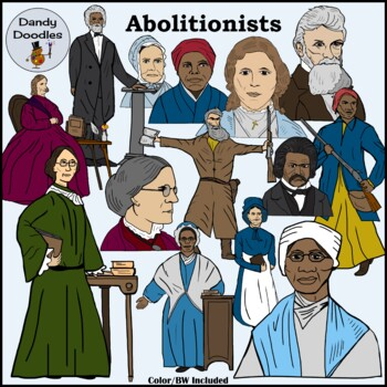 Abolitionists Clip Art by Dandy Doodles