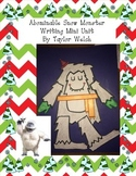 Abominable Snow Monster Mini Writing Unit and Craftivity