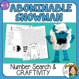 Abominable Snowman - Fun Math Holiday Activities - Craft a