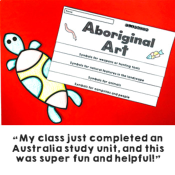 Aboriginal Art Lesson 12 Information Slides, Flipbook and Activities