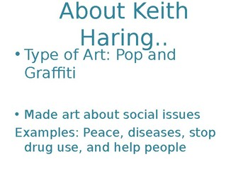 Aboriginal Art Lesson PowerPoint/Keith Haring