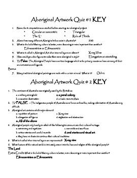 Aboriginal Art Quiz