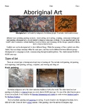 Aboriginal Art Worksheet