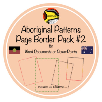 Aboriginal Australian Pattern Page Border Pack #2