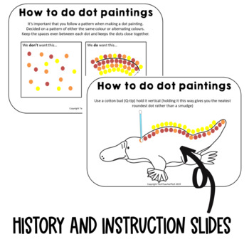Aboriginal Dot Painting Activity Information slides & instructions