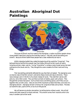 Aboriginal Dot Paintings Informational Handout