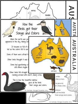 Australian Aboriginal Dreamtime Story: How the Birds got their Songs and Colors