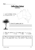 Aboriginal Education- Collecting Colour by Kylie Dunstan Comprehension Activity