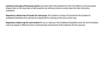 Aboriginal Heritage of Canada: Grade 5 Social Studies