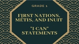 """NEW CURRICULUM - Canadian FNMI """"I Can"""" Statements - Grade 1"""