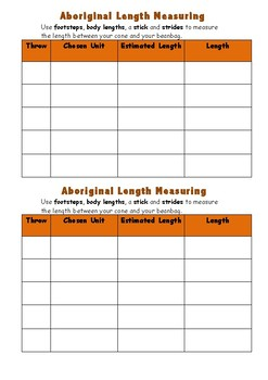 Aboriginal Length Measuring