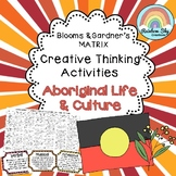Aboriginal Life and Culture Blooms Grid, History Year 3+4