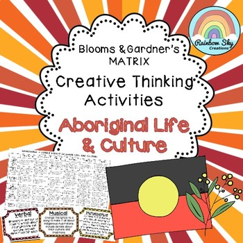 Aboriginal Life and Culture Blooms Grid - History Year 3 & 4