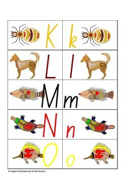 Aboriginal NAIDOC Literacy Centres Alphabet Match Up Phonics