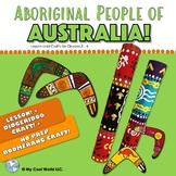 Aboriginal People of Australia | Lesson + Didgeridoo Craft + Boomerang Craft