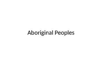 Aboriginal Peoples-for student/counselors interested in counseling-a brief guide