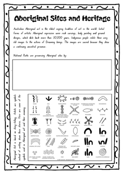 Aboriginal Sites and Heritage Worksheet