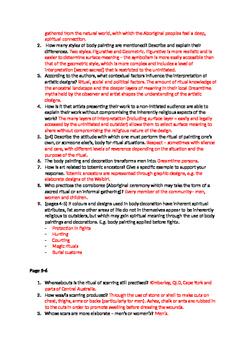 Aboriginal Spirituality article analysis activity