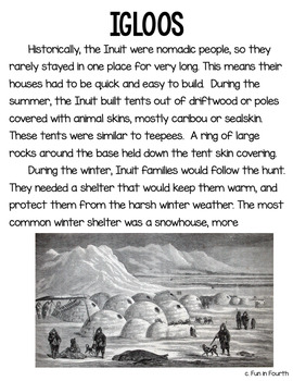 Aboriginal Structures (Shelters) Article and Interactive Notebook Activity
