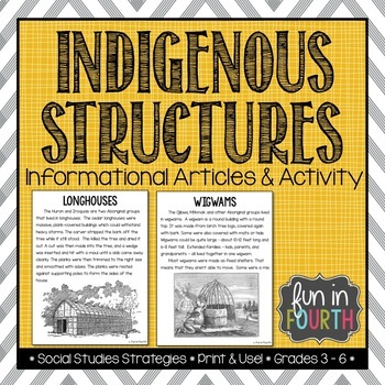 Indigenous First Nations Shelters Article And Interactive Notebook