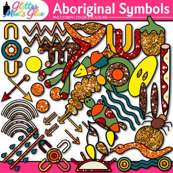 Aboriginal Symbols Clip Art {Australian Native Art, Dreamtime for Scrapbooking}